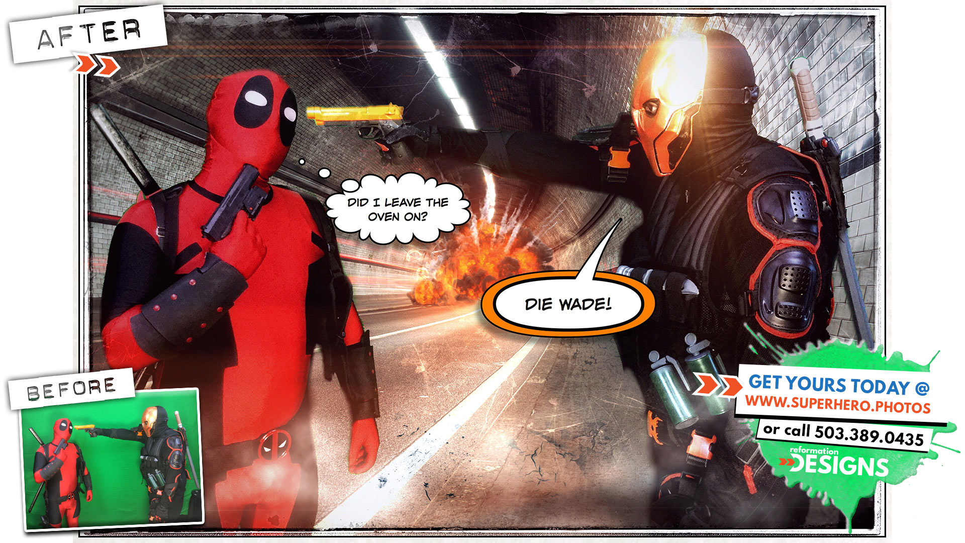 Special Effects - superhero-photobooth-by-reformation-designs-1-deadpool-vs-deathstroke-june-2015