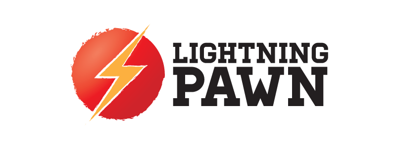 Lightning Pawn Logo Design by Reformation Designs